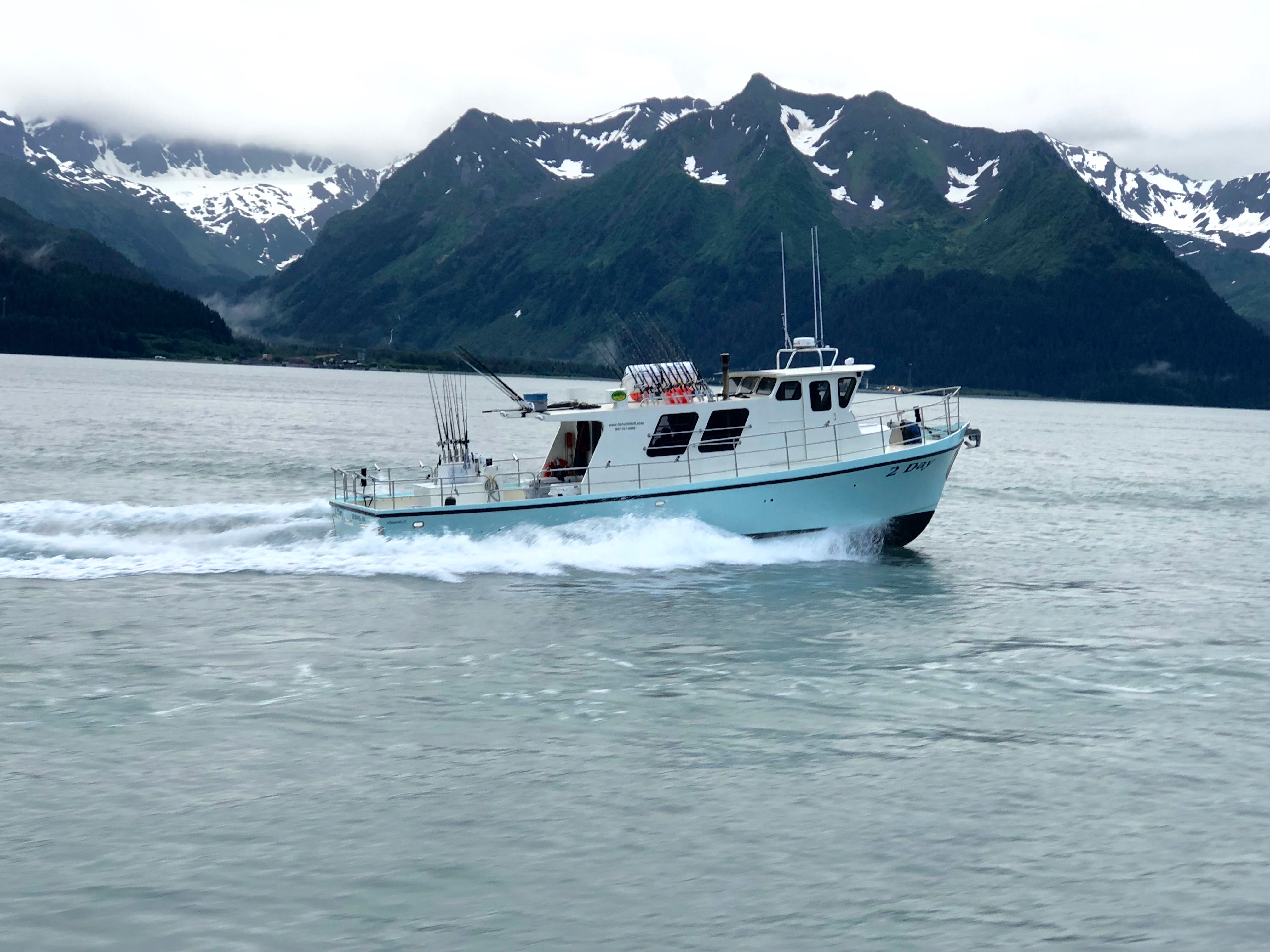 A boat that goes on fishing trips in Seward, AK